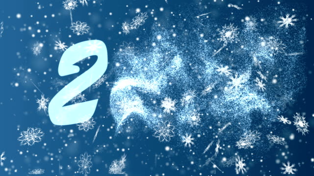 New Year 2018 from snowflakes on a blue background. Christmas and New Year seamless looping animation. video