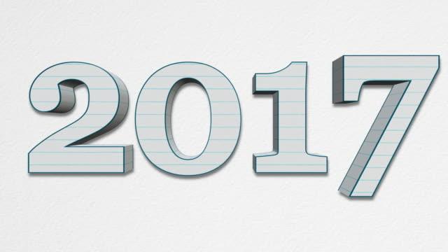 vidéos et rushes de nouvel an 2018, remplaçant l'ancien année 2017 belle boucle - 2018