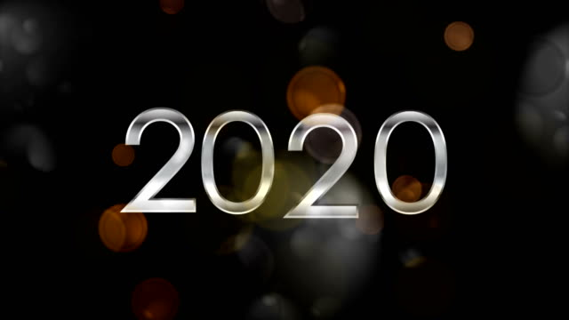 new year 2020 abstract dark bokeh video animation - bokeh stock videos & royalty-free footage