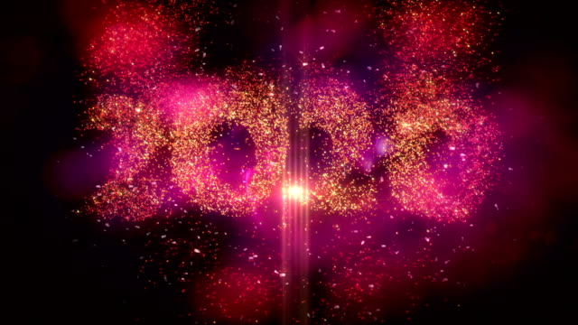new year 2020 background animation - vivid 4k video stock videos & royalty-free footage