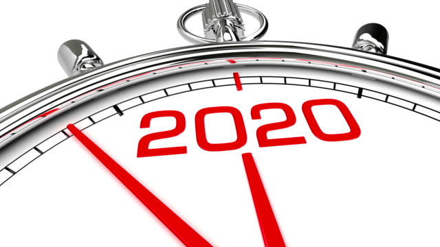 New Year 2020 Clock (with Matte) Clock countdown from year 2019 to 2020. Perfect for your own background, clean mask. 2020 stock videos & royalty-free footage
