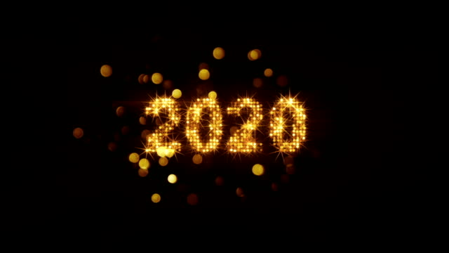 New year 2020 greeting from fireworks last 5s loop New year 2020 greeting from fireworks. The last 5 seconds are loopable. 3D render animation 2020 stock videos & royalty-free footage