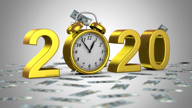 new year 2020 - group of people filmów i materiałów b-roll
