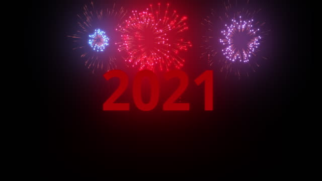New Year 2021 celebration Colourful Fireworks light up the sky with dazzling display video