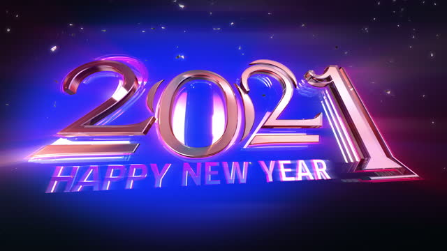 New Year 2021 opening Animation High quality 2021 New Year opening animation. Best for New Year's Eve, friends party, and other event happy new year 2021 stock videos & royalty-free footage