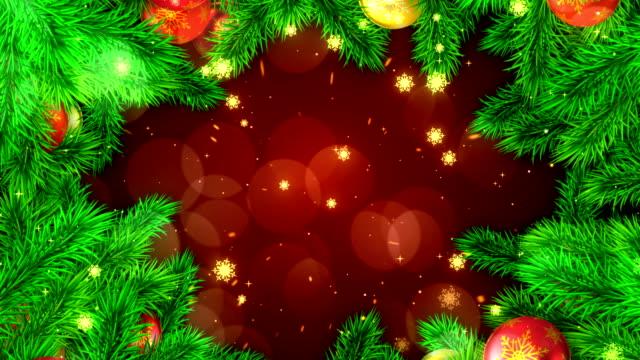 vídeos de stock e filmes b-roll de new year abstract background - stock video - christmas card