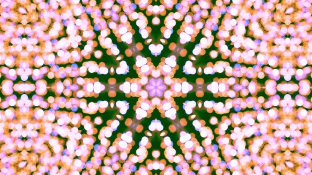 vídeos de stock e filmes b-roll de new year abstraction kaleidoscope - mosaicos flores