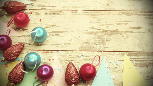 New Year and Christmas background video