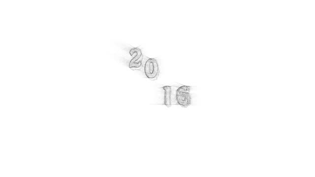 New year Banner black pencil writing text jump 2016 with sound New year Banner black pencil sketchy writing new year text jump 2016 with sound. Animation year 2016 jumps up and down and get closer and closer. Dolly zoom in. homepage stock videos & royalty-free footage