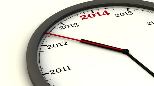 New Year Clock video