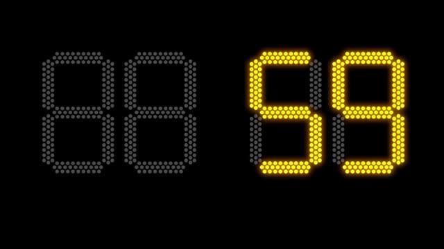 vidéos et rushes de notion de nouvel an sur tableau de bord électronique pour 2019 - chrono sport
