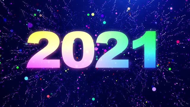2021 New Year Countdown Particles The festive countdown from 10 to 0  multi-colored particles, 2021 New Year Countdown Colorful Particles Animation. Use in your email greeting, social media posts, commercials, presentations, etc. This clip is available in HD resolution. happy new year 2021 stock videos & royalty-free footage