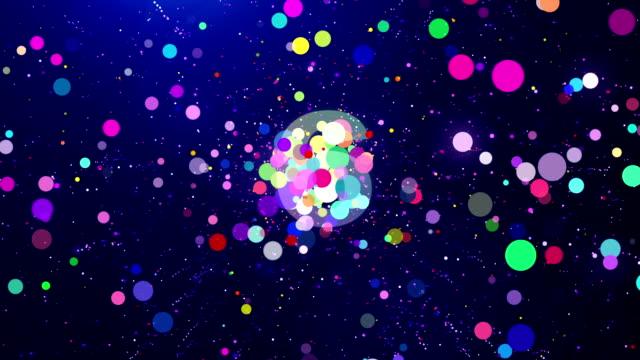 Partículas de cuenta regresiva de año nuevo 2018 - vídeo