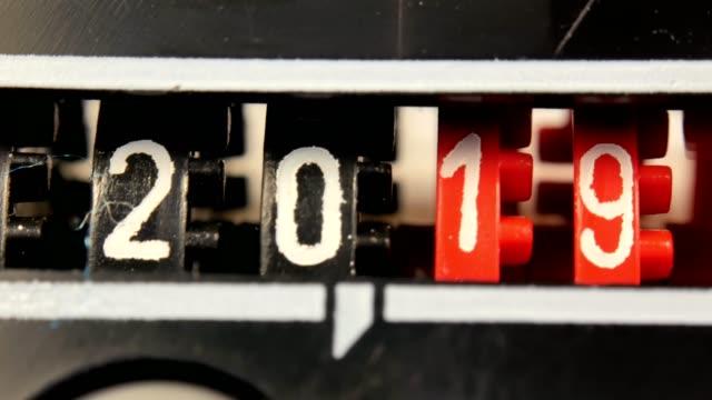 vidéos et rushes de numéros de compteur de nouvel an 2018 à 2024. ensemble de numérique à rebours. - 2018