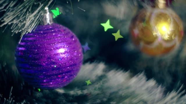 New Year Decoration Christmas Tree Garland Lights video