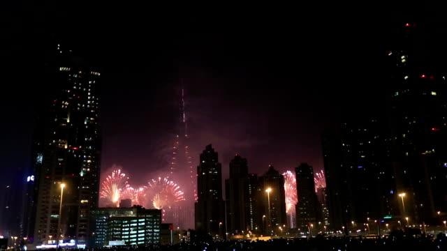 new year fireworks show at Burj khalifa in Dubai