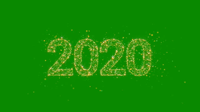 2020 New Year Greeting Card. Gold Glitter Background.  Loop 2020 New Year Greeting Card. Gold Glitter Background.  Loop 2020 stock videos & royalty-free footage