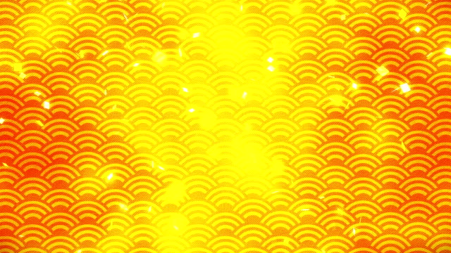 New Year Japanese Pattern, Gold background, Loop Animation, video