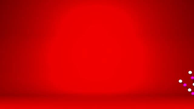 新年のロング Kadomatsu 赤の背景 ビデオ