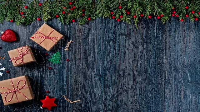 4 k neujahr stop motion hintergründe - weihnachtskarte stock-videos und b-roll-filmmaterial