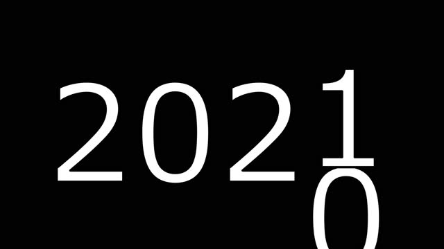 新年のビデオイラスト。葉2020、2021が来る。新年あけましておめでとうございます、 メリークリスマス。 - 幸運点の映像素材/bロール