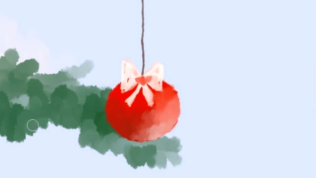 New Year's and Christmas drawing.	Digital drawing.