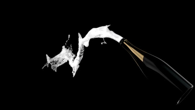 New Year's Champagne, slow motion - vídeo