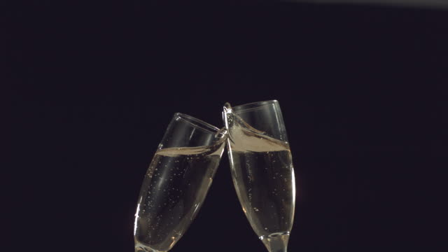 New Year's Champagne toast video
