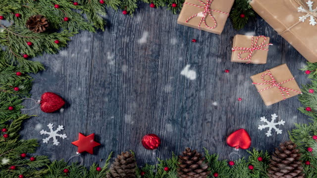 4K New Year's Christmas Concept - Loopable