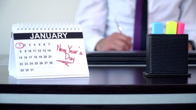 nyårsdagen - speciella dagar - calendar workout bildbanksvideor och videomaterial från bakom kulisserna