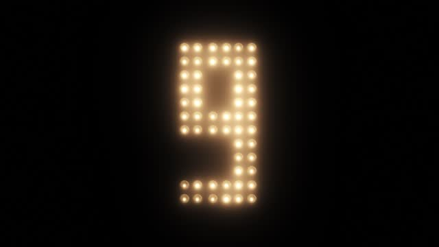 New Year's Eve Countdown to 2021 Countdown Lights Counter 4K Floodlight Led Timer From 10 to 0 happy new year 2021 stock videos & royalty-free footage