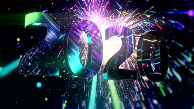 New Year's Eve fireworks - abstract animation A huge amount of fireworks exploding in the sky during the New Year's Eve / Independence Day 2020 stock videos & royalty-free footage