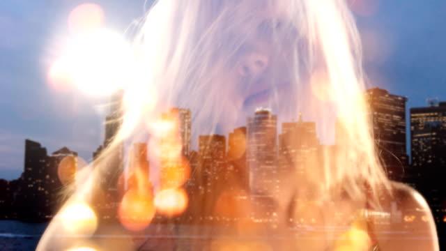 New Years Eve Sensual Blond Girl in Nightclub. video