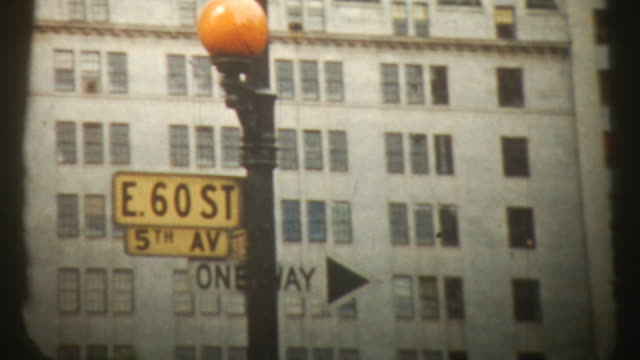 new york 1959, film 8mm (hd1080) - american architecture stock videos & royalty-free footage