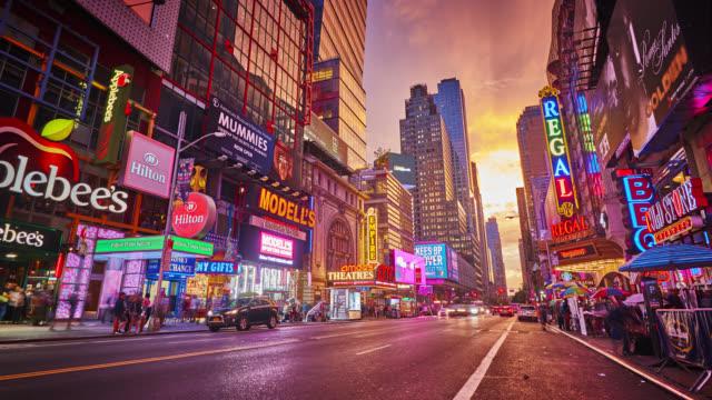 vídeos de stock, filmes e b-roll de nova york, rua 42, urban - brand
