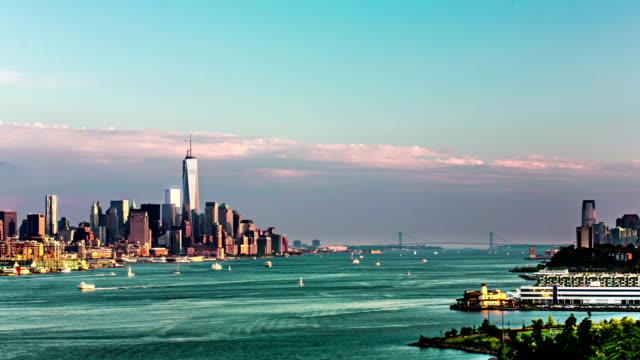 New York bay day to night timelapse VETTA video