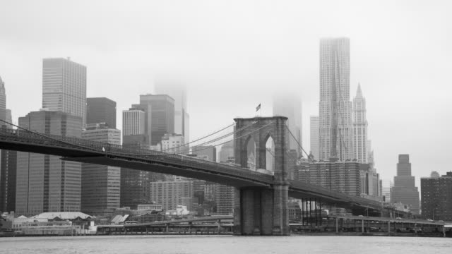 New York - Brooklyn Bridge and Lower Manhattan video