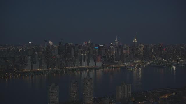 New York City Aerial View Night video
