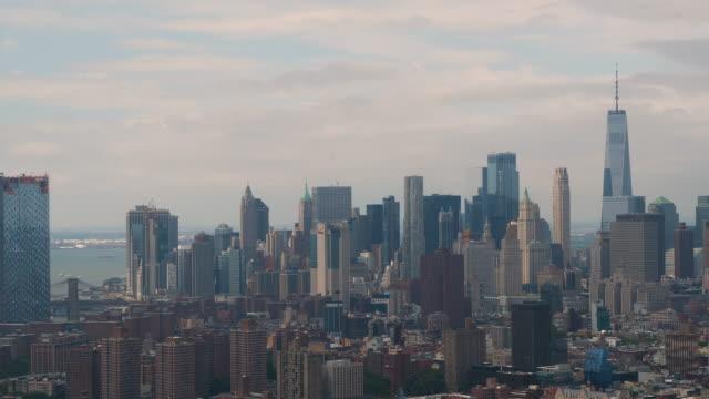 new york city aerial view - continente americano video stock e b–roll