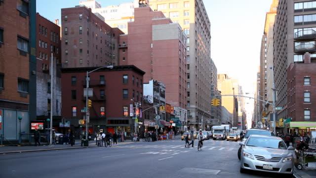 뉴욕시행 교차로 - 동작 정지 스톡 비디오 및 b-롤 화면