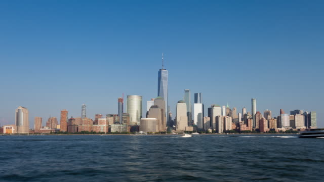 New York City, Lower Manhattan Skyline Day Timelapse video