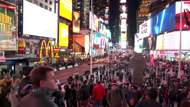 New York City point of view Times Square POV people video