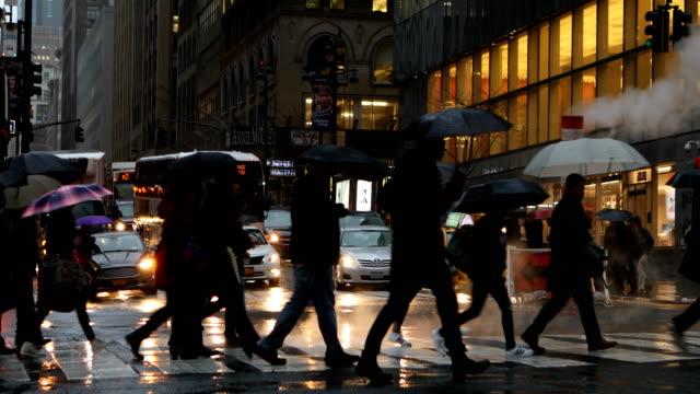 New York City Rainy Streets video