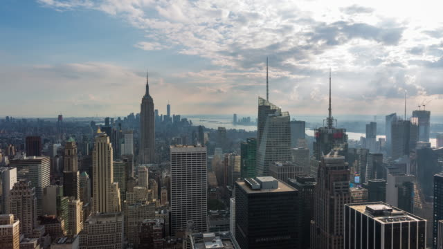 New York City Skyline Day Timelapse With Clouds video