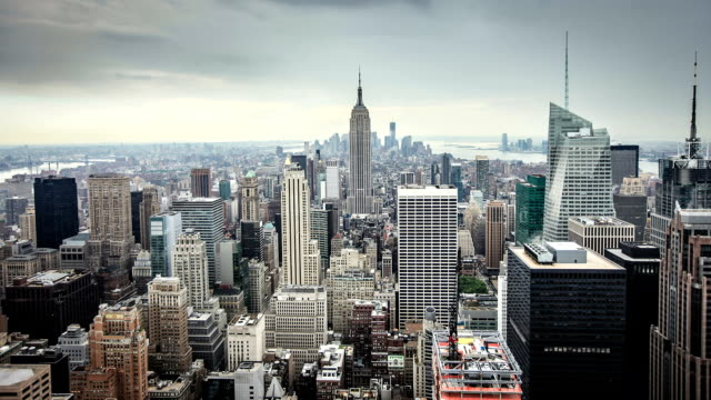HD: New York City skyline timelapse video