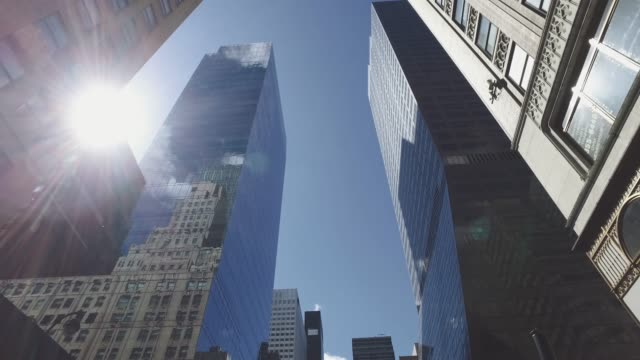New York City: skyscrapers and skyline from the streets video