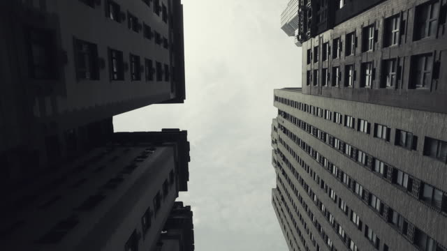 New York city skyscrapers from the street video