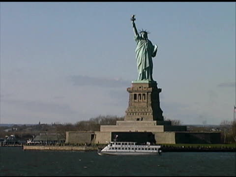 New York City: Statue of Liberty from Boat video