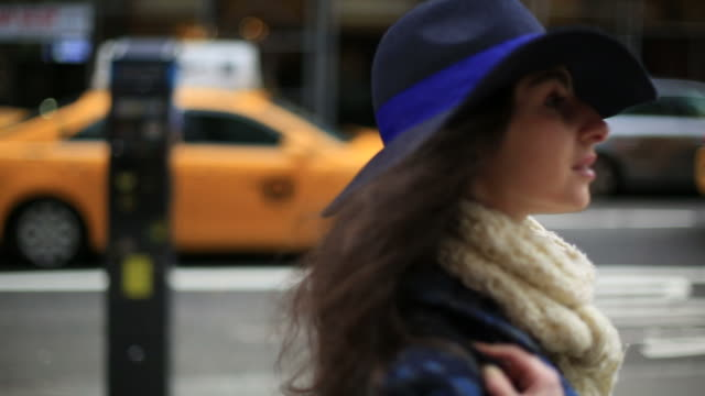 New York City streets (focused on one person) video
