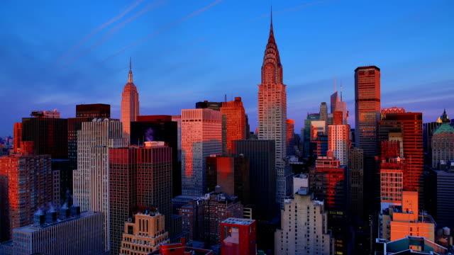 뉴욕시행 썬라이즈 - 낮 스톡 비디오 및 b-롤 화면